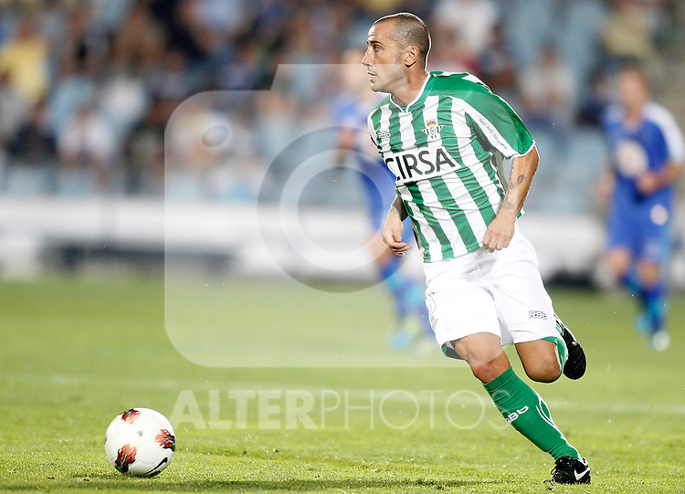 Real Betis de Sevilla's Mario Alvarez during La Liga Match. September 26, 2011. (ALTERPHOTOS/Alvaro Hernandez)