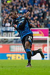 05.10.2019, Benteler Arena, Paderborn, GER, 1.FBL, SC Paderborn 07 vs 1. FSV Mainz 05<br /><br />DFL REGULATIONS PROHIBIT ANY USE OF PHOTOGRAPHS AS IMAGE SEQUENCES AND/OR QUASI-VIDEO.<br /><br />im Bild / picture shows<br />Christopher Antwi-Adjei (Paderborn #22), <br /><br />Foto © nordphoto / Ewert