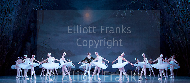 The Mariinsky Ballet Theatre<br /> at The Royal Opera House, Covent Garden, London, Great Britain <br /> Press photocall <br /> 27th July 2017 <br /> <br /> Music<br /> Pyotr Il&rsquo;yich Tchaikovsky<br /> <br /> <br /> Xander Parish as <br /> Prince Siegfried<br /> <br /> <br /> Photograph by Elliott Franks <br /> Image licensed to Elliott Franks Photography Services