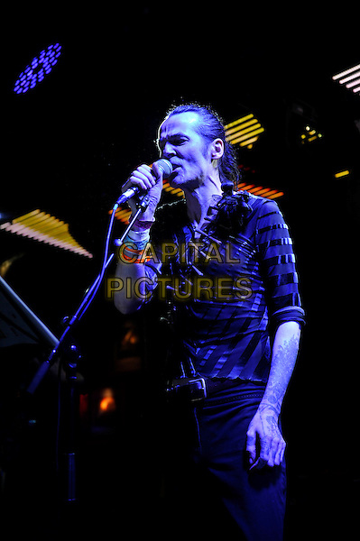 LONDON, ENGLAND - NOVEMBER 7: Ron Tree of 'Hawklords' performing at Under The Bridge on November 7, 2015 in London, England.<br /> CAP/MAR<br /> &copy; Martin Harris/Capital Pictures