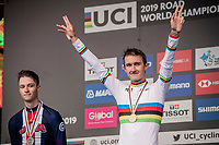 Mikkel Bjerg (DEN) becomes the U23 TT World Champion once again, ahead of americans Ian Garisson (2nd) & Brandon McNulty (3rd)<br /> <br /> Men U23 Individual Time Trial<br /> <br /> 2019 Road World Championships Yorkshire (GBR)<br /> <br /> ©kramon