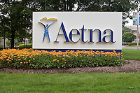 Aetna Headquarters is pictured in Hartford, Connecticut, Saturday August 6, 2011. Aetna, Inc. is an American health insurance company, providing a range of traditional and consumer directed health care insurance products and related services, including medical, pharmaceutical, dental, behavioral health, group life, long-term care, and disability plans, and medical management capabilities.