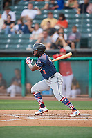 Abraham Almonte (7) of the Reno Aces bats against the Salt Lake Bees at Smith's Ballpark on June 27, 2019 in Salt Lake City, Utah. The Aces defeated the Bees 10-6. (Stephen Smith/Four Seam Images)