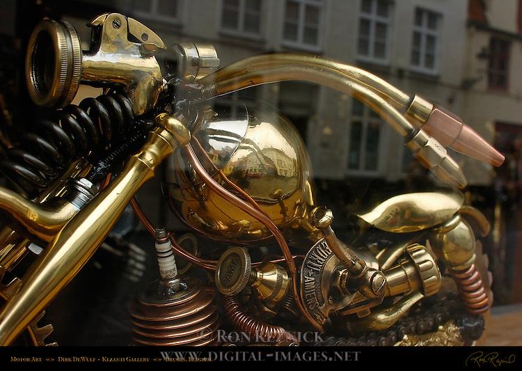 Motor Art, Dirk de Wulf, Kezanti Gallery, Ezelstraat, Bruges, Brugge, Belgium