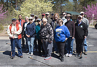 "NWA Democrat-Gazette/CHARLIE KAIJO Instructor Sallyann Brown (center) poses for a photo with her students during a fly fishing class, Sunday, April 14, 2019 at Hobbs State Park in Rogers.<br /> <br /> Instructor Sallyann Brown, past recipient of the ""Woman of the Year"" and the ""Federation of Fly Fishers Educator of the Year"" awards from the Federation of Fly Fishers, Inc. taught a four hour fly fishing class.<br /> <br /> Participants learned four basic casts, the six basic types of flies (lures), how to cast and ""play"" the flies in the water, how to read water, how to wade, how to purchase and assemble equipment, how to store equipment and how to tie the four basic knots used by fly fishers."