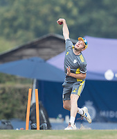 Mason Crane of Hampshire CCC during Middlesex CCC vs Hampshire CCC, Bob Willis Trophy Cricket at Radlett Cricket Club on 11th August 2020