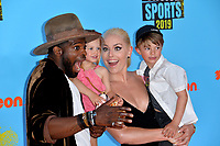 SANTA MONICA, USA. July 11, 2019: Lindsey Vonn, P.K. Subban & Family at Nickelodeon's Kids' Choice Sports Awards 2019 at Barker Hangar.<br /> Picture: Paul Smith/Featureflash