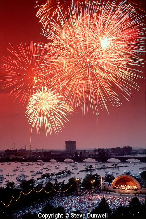 Hatch Shell fireworks, July 4th, Boston Pops, Boston, MA