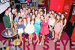 Friends Kasia O'Leary,Muckross, Elaine O'Loughlin, Fossa and Carmel Courtney, Kilcummin, pictured with some of their friends as they celebrated their joint 21st birthdays in Mustang Sallys, Killarney on Friday night.............................................................................................