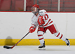 MADISON, WI - SEPTEMBER 29: Erika Lawler #13 of the Wisconsin Badgers women's hockey team skates during warmups prior to the game against the Quinnipiac Bobcats at the Kohl Center on September 29, 2006 in Madison, Wisconsin. The Badgers beat the Bobcats 3-0. (Photo by David Stluka)