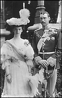 BNPS.co.uk (01202 558833)Pic: MarkAndersen/BNPS<br /> <br /> Christian X and Queen Alexandrine of Denmark.<br /> <br /> A Russian Grand Duke branded King George V a 'scoundrel' who 'did not lift a finger' to save the Romanov family in the revolution there of 1917, explosive diaries have revealed.<br /> <br /> The cousin of the overthrown Russian Royal family blamed the British King for their executions because he failed to grant them refuge.<br />  <br /> Dmitri Pavlovich no-holds-barred diary extracts have been published for the first time in a new book by respected historian Coryne Hall, To Free The Romanovs.