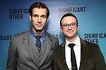 """John Behlmann and Luke Smith attends the Broadway Opening Night performance after party for """"Significant Other"""" at the Redeye Grill on March 2, 2017 in New York City."""