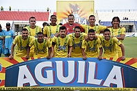 MONTERÍA - COLOMBIA ,28-04-2019: Formación del Atlético Bucaramanga ante Jaguares de Córdoba durante partido por la fecha 18 de la Liga Águila I 2019 jugado en el estadio Municipal Jaraguay de Montería . / Team of Atletico Bucaramanga agaisnt of Jaguares of  Cordoba during the match for the date 18 of the Liga Aguila I 2019 played at Municipal Jaraguay Satdium in Monteria City . Photo: VizzorImage / Andrés Felipe López  / Contribuidor.