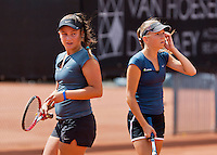 August 9, 2014, Netherlands, Rotterdam, TV Victoria, Tennis, National Junior Championships, NJK,  Girls 14 years final: Gabriella Mujan(L) and Perla Nieuwboer<br /> Photo: Tennisimages/Henk Koster