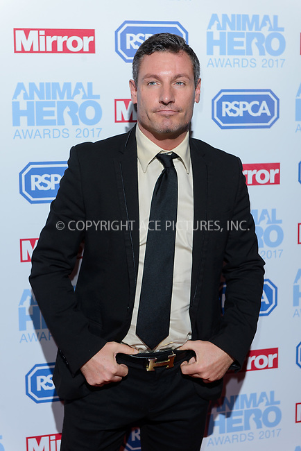 www.acepixs.com<br /> <br /> September 7 2017, London<br /> <br /> Dean Gaffney attending the Animal Hero Awards 2017 on at the Grosvenor Hotel on September 7 2017 in London<br /> <br /> By Line: Famous/ACE Pictures<br /> <br /> <br /> ACE Pictures Inc<br /> Tel: 6467670430<br /> Email: info@acepixs.com<br /> www.acepixs.com