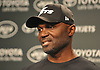 Todd Bowles, New York Jets head coach, fields questions from the media at Atlantic Health Jets Training Center in Florham Park, NJ on Monday, Jan. 2, 2017. Players cleaned out their lockers at the facility one day after the team's season ended with a record of 5-11.