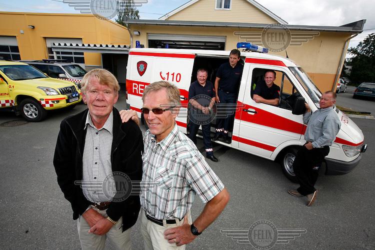 f.v.  Foran : Iver Hofsmarken, Paul Dahl,  .Bak: Andres Brusveen, Bård Henriksen, Thorleif Aas, Kai Tangen..© Fredrik Naumann/Felix Features