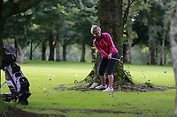 Eleanor McKelvey (Malone) during the final  of the Ulster Mixed Foursomes at Killymoon Golf Club, Belfast, Northern Ireland. 26/08/2017<br /> Picture: Fran Caffrey / Golffile<br /> <br /> All photo usage must carry mandatory copyright credit (&copy; Golffile | Fran Caffrey)