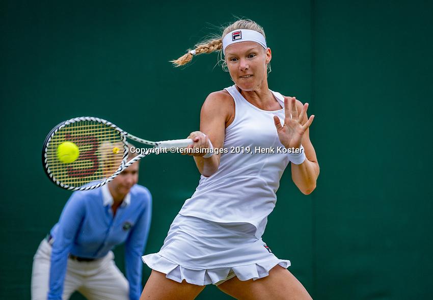 London, England, 6 July, 2019, Tennis,  Wimbledon, Womans single: Kiki Bertens (NED)<br /> Photo: Henk Koster/tennisimages.com