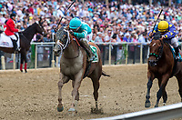 BALTIMORE, MD - MAY 20: Whitmore  #5, ridden by Ricardo Santana Jr., wins the Maryland Sprint Stakes on Preakness Stakes Day at Pimlico Race Course on May 20, 2017 in Baltimore, Maryland.(Photo by Scott Serio/Eclipse Sportswire/Getty Images)