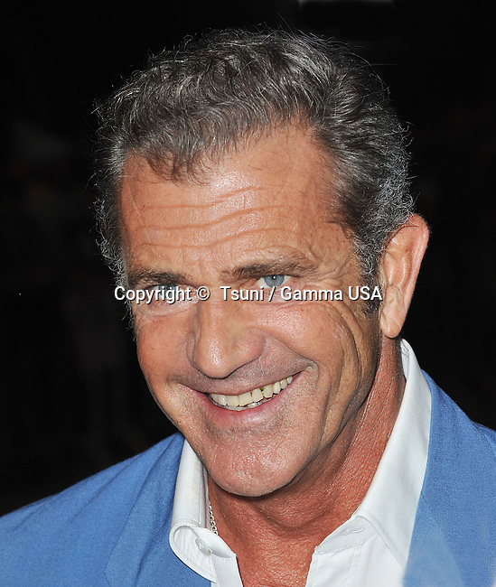 Mel Gibson arriving at the Machete Kills Premiere at the Regal Theatre In Los Angeles.