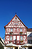 """ehemaliges Gasthaus """"Zum Hirschen"""" (17. Jh.), dreigeschossiger Fachwerkbau, teilweise massiv, Rossmarkt 14, Alzey"""