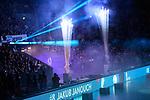 24.02.2019, SAP Arena, Mannheim<br /> Volleyball, DVV-Pokal Finale, VfB Friedrichshafen vs. SVG LŸneburg / Lueneburg<br /> <br /> Feature Einlauf / Teamvorstellung / Pyro - Jakub Janouch (#8 Friedrichshafen)<br /> <br />   Foto © nordphoto / Kurth