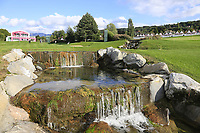The 5th hole during Tuesday's Practice Day of The Evian Championship 2017, the final Major of the ladies season, held at Evian Resort Golf Club, Evian-les-Bains, France. 12th September 2017.<br /> Picture: Eoin Clarke | Golffile<br /> <br /> <br /> All photos usage must carry mandatory copyright credit (&copy; Golffile | Eoin Clarke)