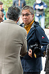 Japanese director Takashi Miike and the subdirector of the Festival Mike Hostench visit the festival with his work team preparing a new work in Spain during Festival de Cine Fantastico de Sitges in Barcelona. October 12, Spain. 2016. (ALTERPHOTOS/BorjaB.Hojas)