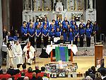 The Augustinian church choir singing at the SOSAD mass. Photo: Colin Bell/pressphotos.ie