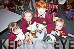 Enjoying their first day as Juniors at St Josephs NS Cahersiveen were l-r; Nicole Devlin, Sarah O'Connor, Katie Coffey & Niamh McCarthy.
