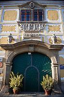 Buildings on the main street Rust ( Hungarian: Ruszt ) on the Neusiedler See, Burgenland, Austria