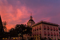 TALLAHASSEE, FLA. 7/13/15-Florida's Historic Capitol building at sunset.