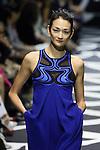 Ai Tominaga, Mar 20 2014 : Ai Tominaga prents a creation by designer Diane von Furstenberg Mercedes-Benz Fashion Week Tokyo 2014-15A/Won at Shibuya Hikarie Tokyo Japan on 20 Mar 2014. (Photo by Motoo Naka/AFLO)