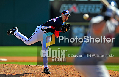 4 March 2009: Washington Nationals' pitcher Jason Bergmann on the mound during a Spring Training game against the New York Mets at Space Coast Stadium in Viera, Florida. The Nationals rallied to defeat the Mets 6-4 . Mandatory Photo Credit: Ed Wolfstein Photo