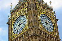 Close up view of the clock of Big Ben