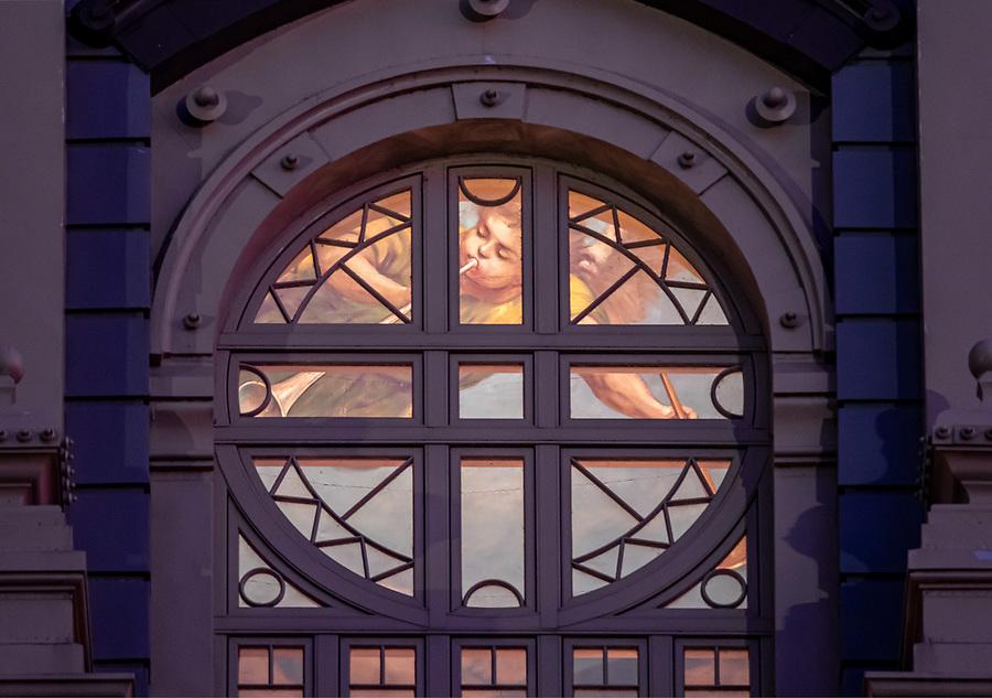 August 18, 2019; Detail of the Main Building rotunda (Photo by Matt Cashore/University of Notre Dame)