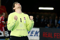 17.01.2013 World Championshio Handball. Match between Spain vs Hungray at the stadium La Caja Magica. The picture show Peter Tatai (Goalkeeper of Hungary)