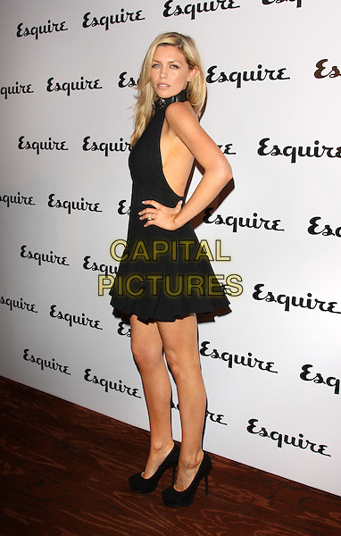 ABBEY CLANCY.Esquire magazine June Issue Launch Party at Sketch, London, England. .May 5th 2011.full length black sleeveless dress hand on hip abigail side .CAP/ROS.©Steve Ross/Capital Pictures