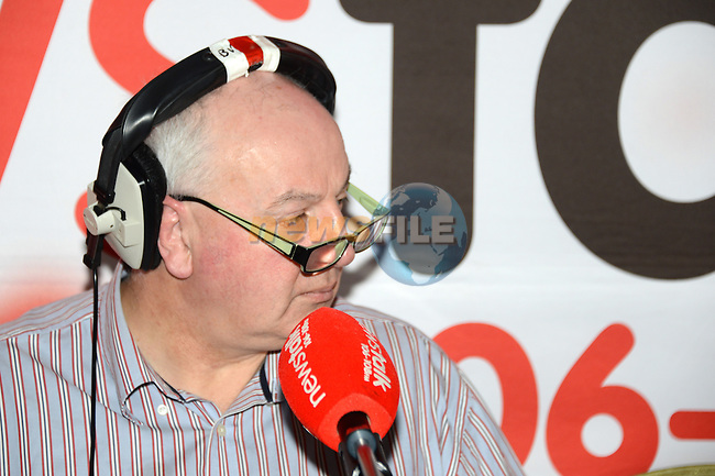 """Bobby Kerr of Newstalk during his live broadcast """"Winning back the High Street"""" from the dHotel www.newsfile.ie"""