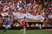 BOGOTA -COLOMBIA, 09-07-2016. Millonarios e Independiente Santa Fe en partido por la fecha 2 de la Liga Aguila II 2016 jugado en el estadio Nemesio Camacho El Campin de la ciudad de Bogota./ Millonarios and Independiente Santa Fe in match for the date 2 of the Liga Aguila II 2016 played at the Nemesio Camacho El Campin Stadium in Bogota city. Photo:VizzorImage / Ivan Valencia / Contribuidor