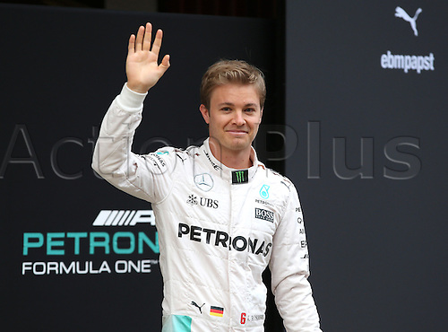 22.02.2016. Barcelona, Spain.  German Formula One driver Nico Rosberg of Mercedes AMG Petronas Team poses during the launch of the new car W07 for the upcoming Formula One season at the Circuit de Barcelona - Catalunya in Barcelona, Spain.