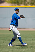 Chicago Cubs right fielder Kwang-Min Kwon (25) during an Extended Spring Training game against the Colorado Rockies at Sloan Park on April 17, 2018 in Mesa, Arizona. (Zachary Lucy/Four Seam Images)