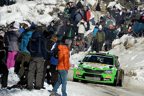 21.01.2016. Monte Carlo, Monaco. The Monte Carlo Rally 2016. The cars takes to the course.  <br />