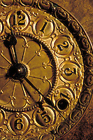 Detail, hands, numerals, Antique Clock Face, old-fashioned timepiece, still life, time.
