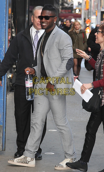 NEW YORK, NY - MARCH 8: NFL wide receiver Antonio Brown arrives at 'Good Morning America' for the 'Dancing with the Stars'  season 22 cast reveal in New York, New York on March 8, 2016. <br /> CAP/MPI/RMP<br /> &copy;RMP/MPI/Capital Pictures