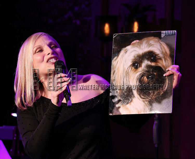 """Roslyn Kind performing her new show """"It's Been a While""""  at 54 Below on April 6, 2014 in New York City."""