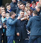 Pedro Caixinha with Rangers fans at full-time