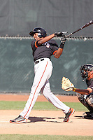 Rafael Rodriguez #21 of the San Francisco Giants plays in a minor league spring training game against the Colorado Rockies at the Giants minor league complex on March 30, 2011  in Scottsdale, Arizona. .Photo by:  Bill Mitchell/Four Seam Images.