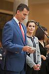 King Felipe VI of Spain and Queen Letizia of Spain receive Social Solidarity entities representatives at Pardo Palace in Madrid, Spain. June 24, 2013. (ALTERPHOTOS/Victor Blanco)